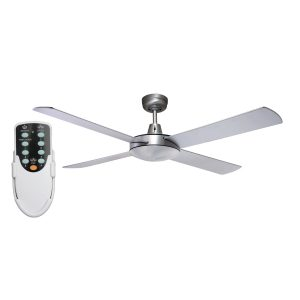 Genesis 52'' Brushed Aluminum Ceiling Fan + Remote - GEN52B - Rem