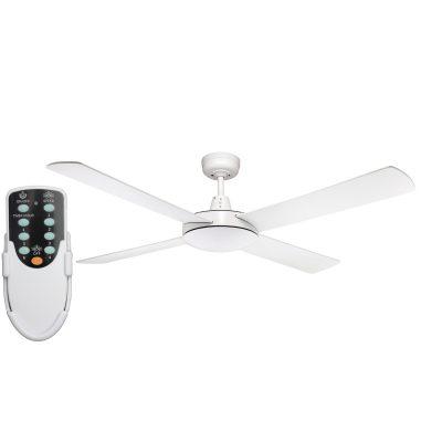 Genesis 52'' White Ceiling Fan + Remote - GEN52W - Rem
