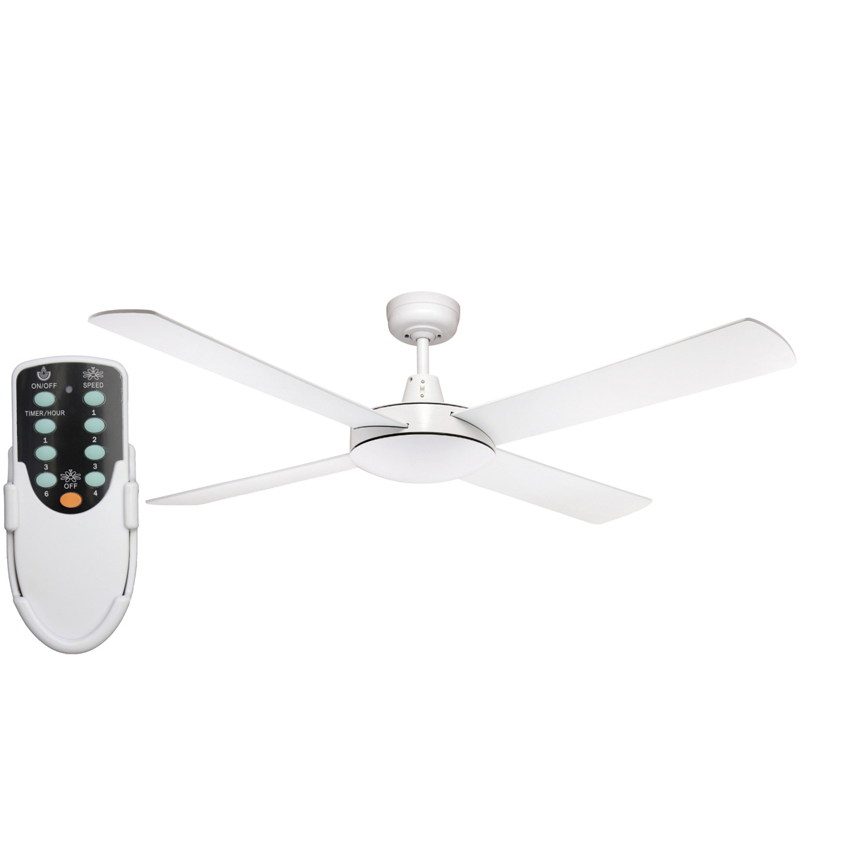 Genesis 52 Inch Ceiling Fan White Remote Ceiling Fan