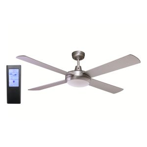 Rotor 52'' LED Light Silver Ceiling Fan + BL Touch Pad Remote - ROTOR52SIL - TBLRem