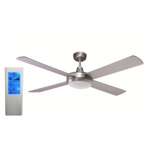 Rotor 52'' LED Light Silver Ceiling Fan + WH Touch Pad Remote - ROTOR52SIL - TWHRem
