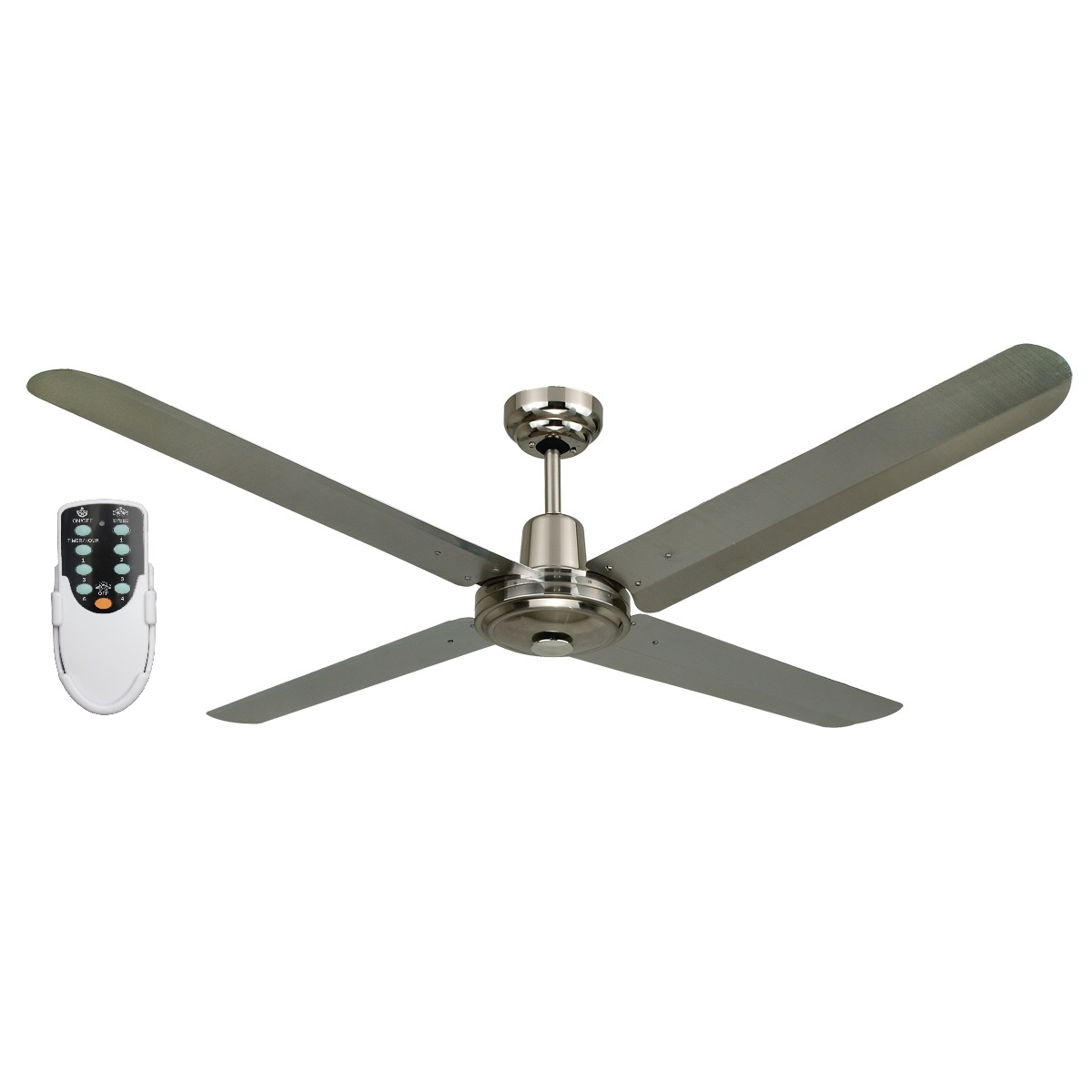 Blizzard56 1200mm 316ss Ceiling Fan Remote Rem