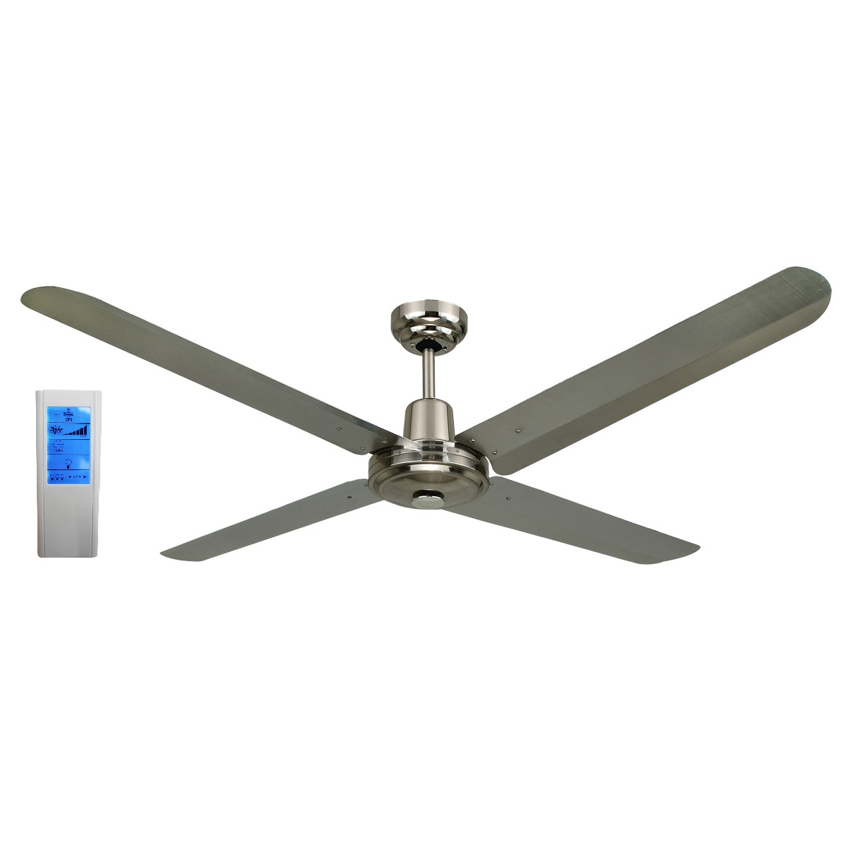 Blizzard56 1200mm 316ss ceiling fan touch pad wh remote blizzard56