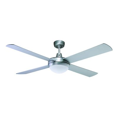 Genesis 52'' Brushed Aluminum Ceiling Fan 2xE27 Light - GEN52BL