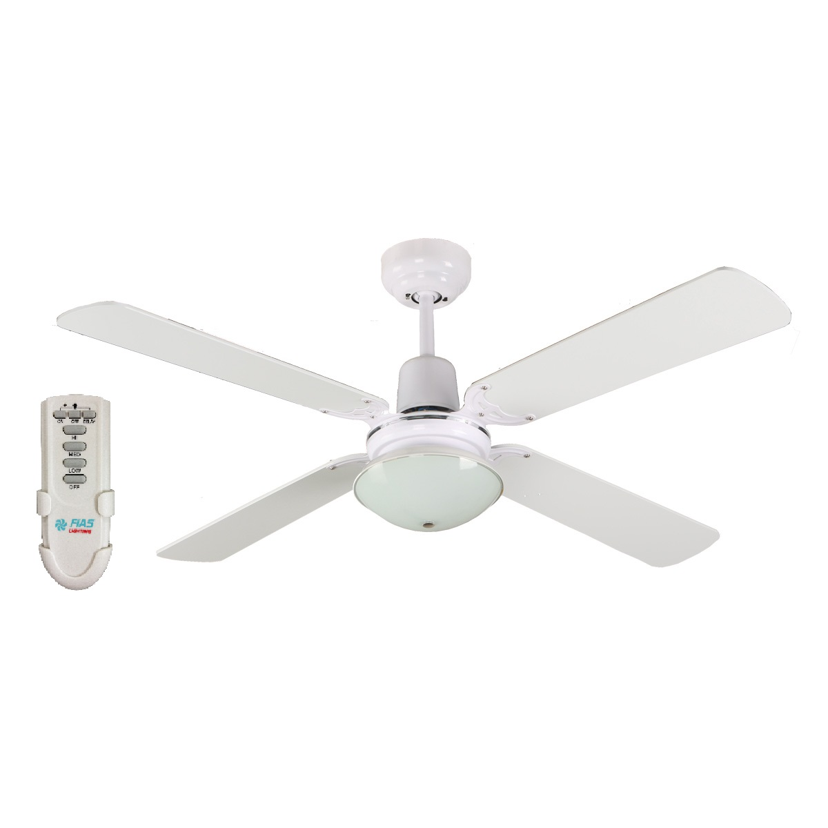 Ramo 48 Inch Ceiling Fan With Light And Remote Control White Ceiling Fan Specials