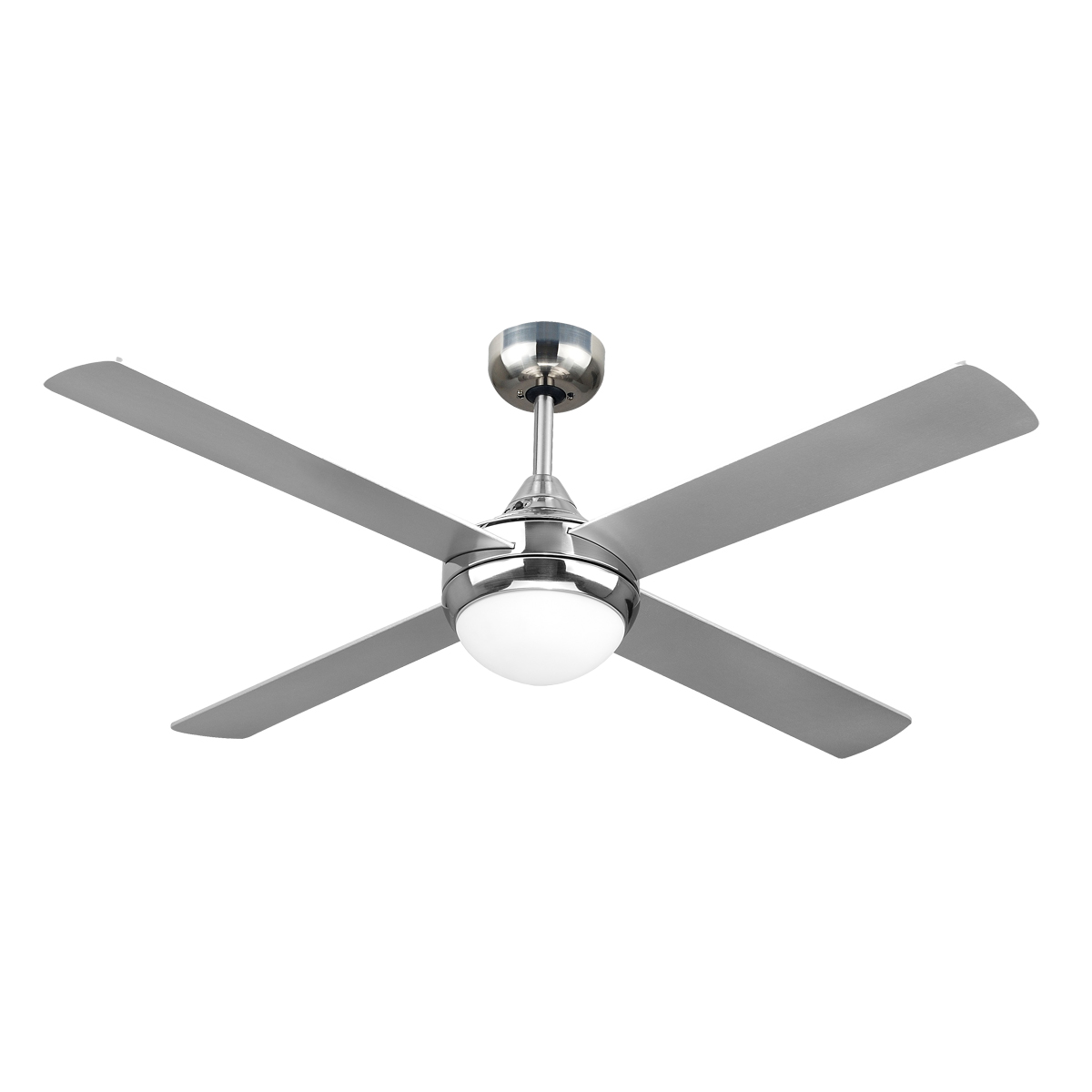 Revolve 48 Ceiling Fan Brushed Chrome 2xE27 Light