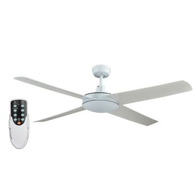 Genesis 52'' White Ceiling Fan with ABS Blades + Remote - GEN52W2 - Rem