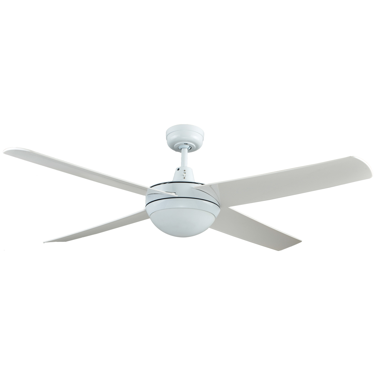 Genesis 52 Inch Ceiling Fan With ABS Blades In White With