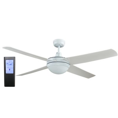 Rotor LED Light 52'' White Ceiling Fan with ABS Blades + BL Touch Pad Remote - ROTORW2 - TBLRem