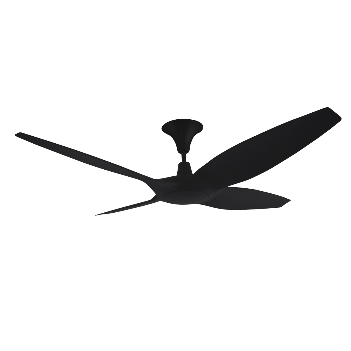 Designer 4 blade 60 inch 1524mm dc ceiling fan with remote designer 60 inch dc ceiling fan in black mozeypictures Images