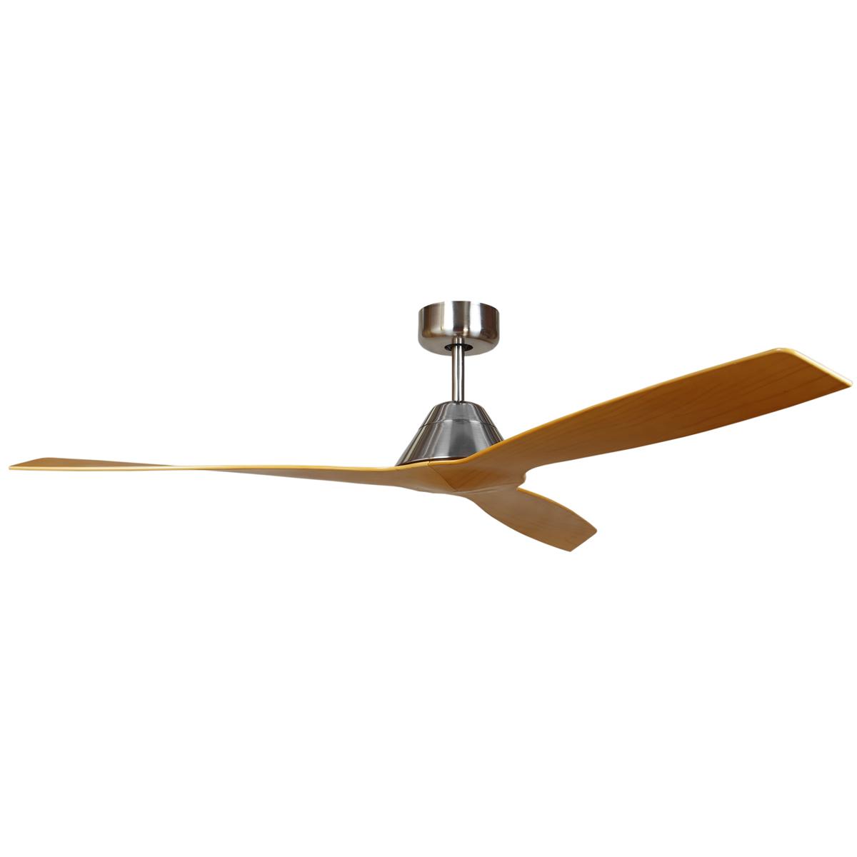 Forte Silver Motor With Woodgrain Blades Ceiling Fan