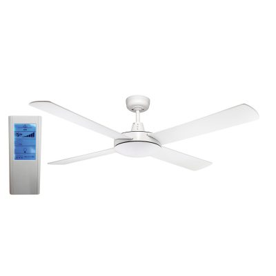 Genesis 52'' White Ceiling Fan + WH Touch Pad Remote - GEN52W - TWHRem