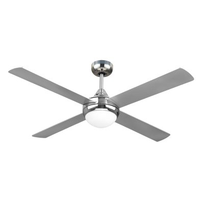 Revolve 48'' Ceiling Fan Brushed Chrome 2xE27 Light - REV48BL