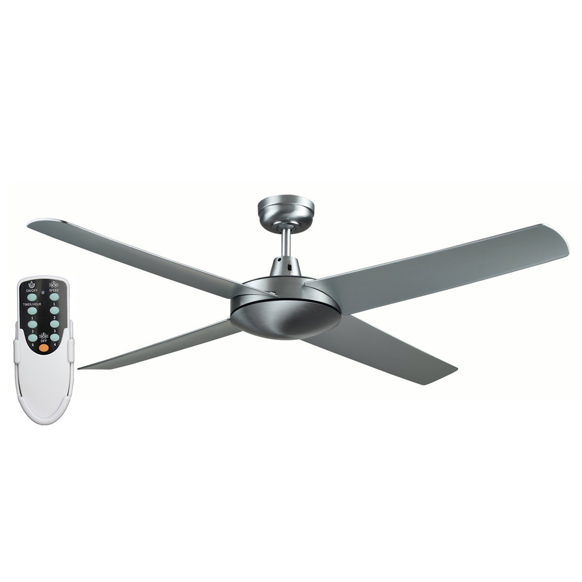 Genesis 52 Inch Ceiling Fan With Abs Blades In Brushed