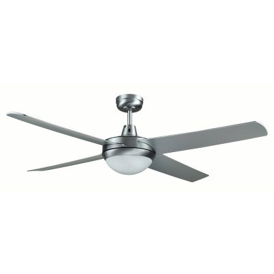 Genesis 52'' Series 2 Brushed Aluminum Ceiling Fan with Light - GEN52BL2