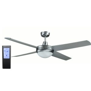 Rotor LED Light 52'' Brushed Aluminum Ceiling Fan with ABS Blades + BL Touch Pad Remote - ROTORS2 - TBLRem