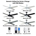 Genesis 52 Inch Ceiling Fan with ABS Blades